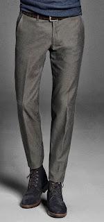 pantalon gris con estampado pata de gallo en massimo dutti