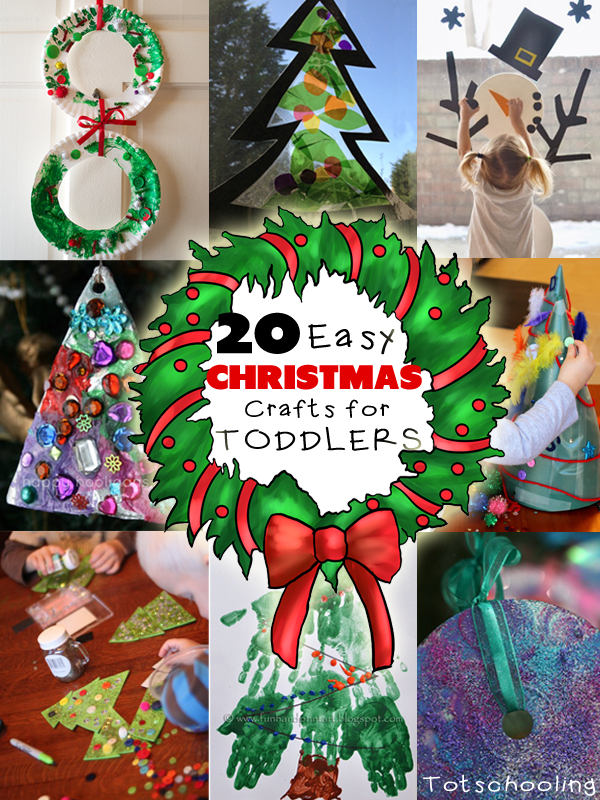 20 Easy Christmas Crafts for Toddlers | Totschooling - Toddler ...