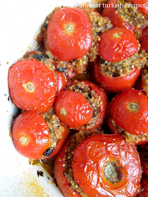 Vegetarian Stuffed Tomatoes (Zeytinyağlı Domates Dolması)