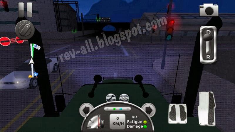 Mode kamera depan malam hari - Truck Simulator 3D, permainan simulasi mengendarai truk untuk android (rev-all.blogspot.com)