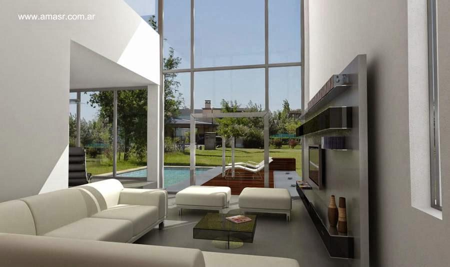 Interior de casa contemporánea estilo Minimalista en Moreno, Buenos Aires