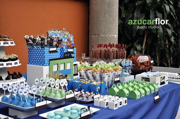 Barra de postres y dulces para bautizo - Imagui