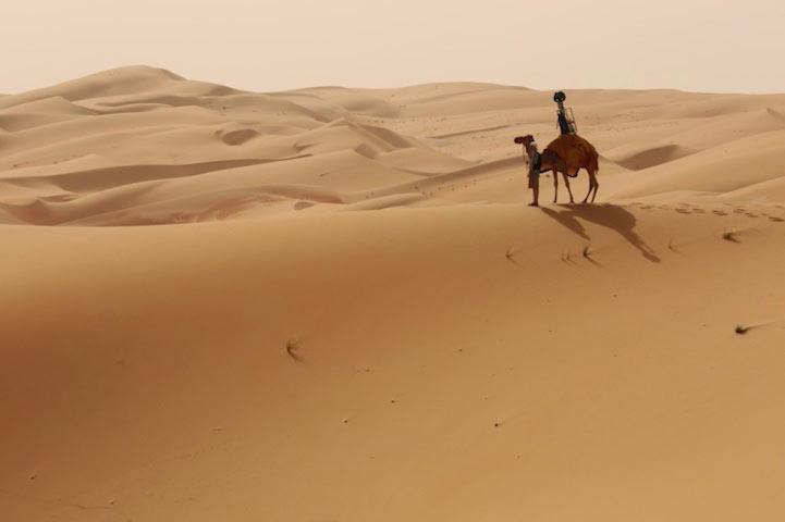 Google Street View uso camellos para capturar impresionantes imágenes del desierto de Arabia