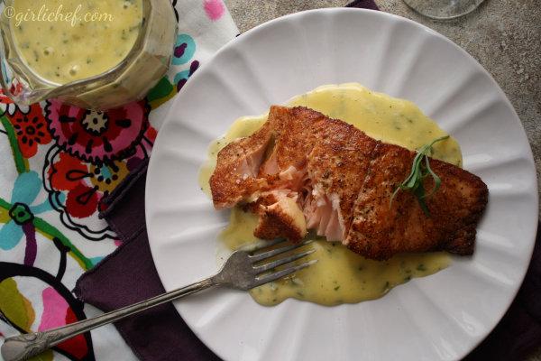 girlichef: Spice-dusted Salmon w/ Absinthe-Tarragon Beurre Blanc