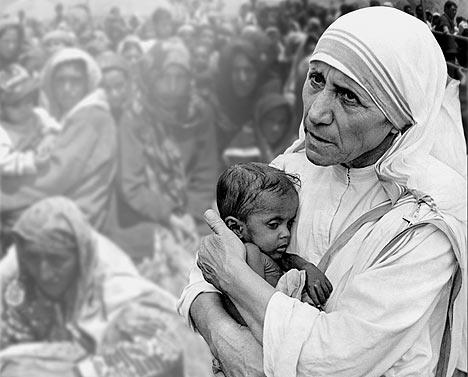 Mother Teresa In Her Own Words Mother Teresa With The Poor