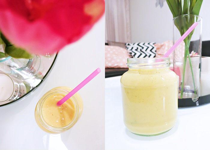 Mango-Bananen-Vanille Shake