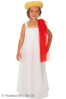 Greek Grecian Goddess Kids Costume from Theatrical Threads Ltd
