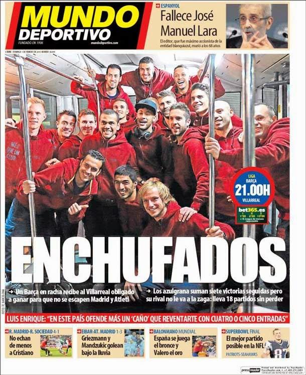 Portada Mundo Deportivo (01/02/2015)