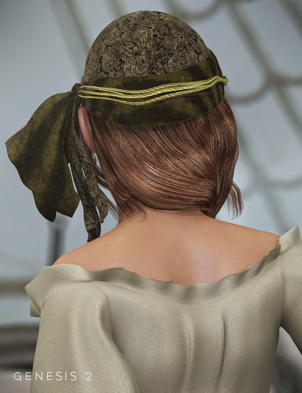 Piratess cheveux pour Genèse 1 et 2 Femme