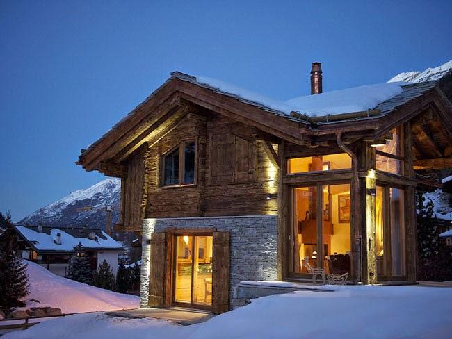 Estilo rustico chalet rustico en zermatt rustic style for Disenos de chalets rusticos