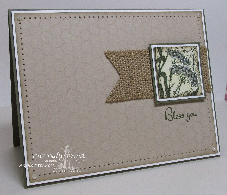 ODBD Life is a Gift, ODBD Honeycomb Background, ODBD Wildflower Silhouette Background, Card Designer Angie Crockett