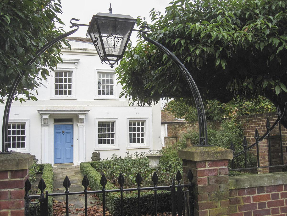 Water House, Shoreham, where Samuel Palmer lived 1828-1835.   2 November 2013.