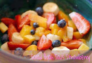 Salad Buah Saus Strawberry