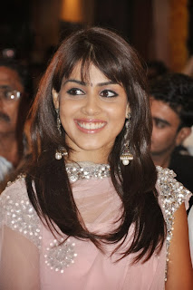 Genelia Cute Smiling Pics at Audio Launch Light Pink Salwar Must See Cuteness