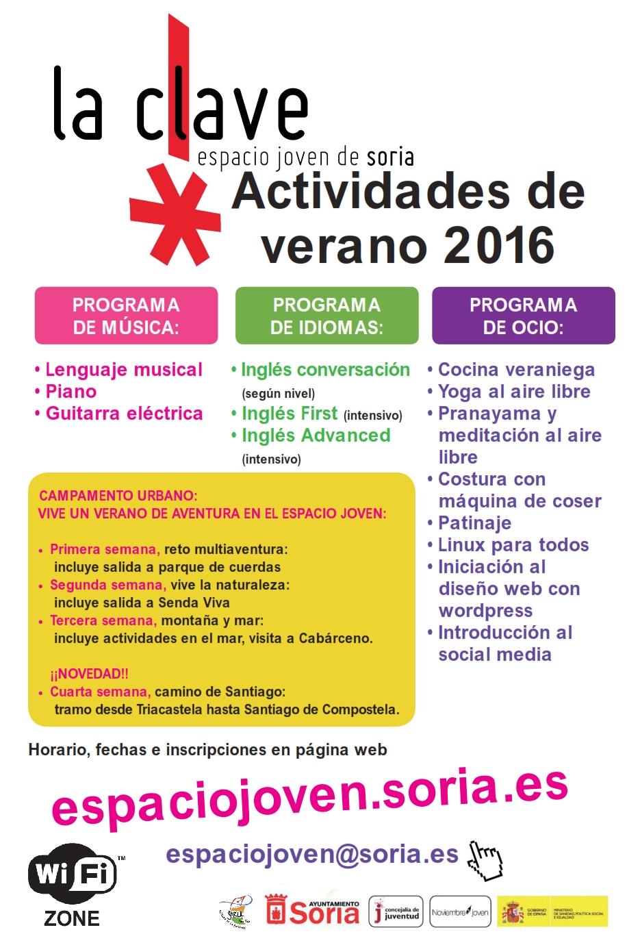 ACTIVIDADES DE VERANO 2016
