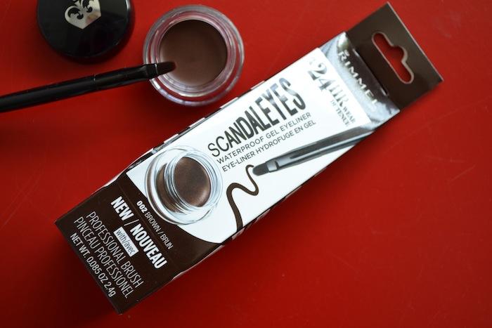 Rimmel gel eyeliner swatch