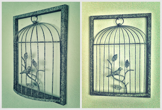 Dekoratif Kuş Kafesi, Bird Cage, Duvar Dekorasyonu, Duvar Panosu, Kafes Pano