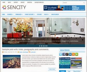 Sencity Blogger Template