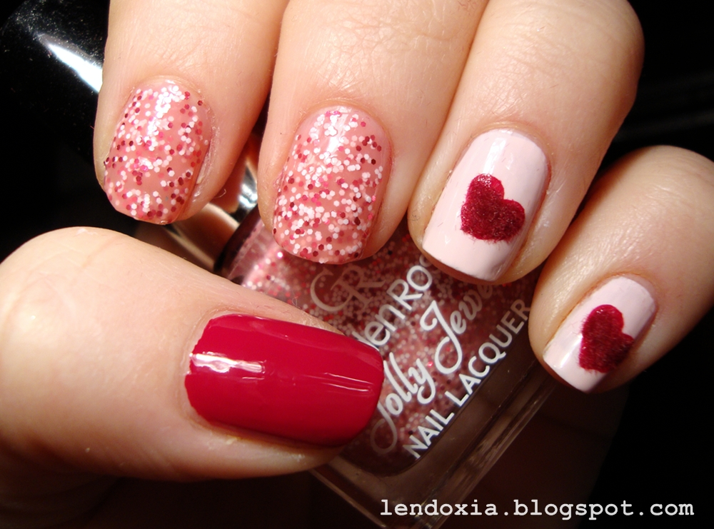 manikura za valentinovo 2014