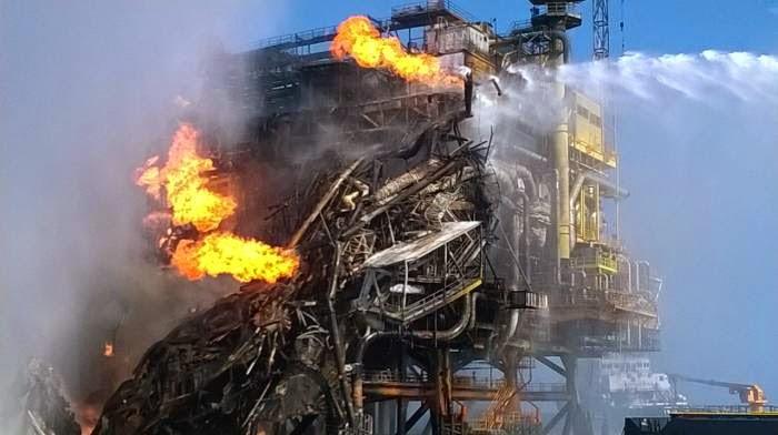 Incendio plataforma Abkatun
