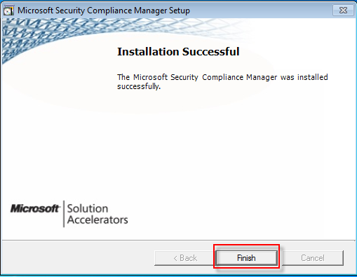 09 Security compliance manager succesfully install