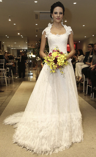vestido de noiva artesanal Martha Medeiros