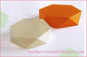 плоская шестиугольная коробочка своими руками