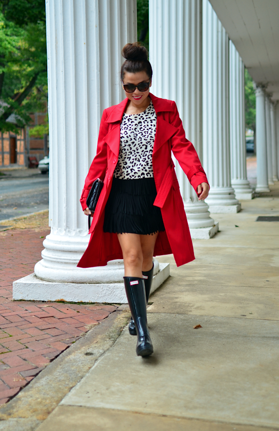 Outfit with Hunter boots