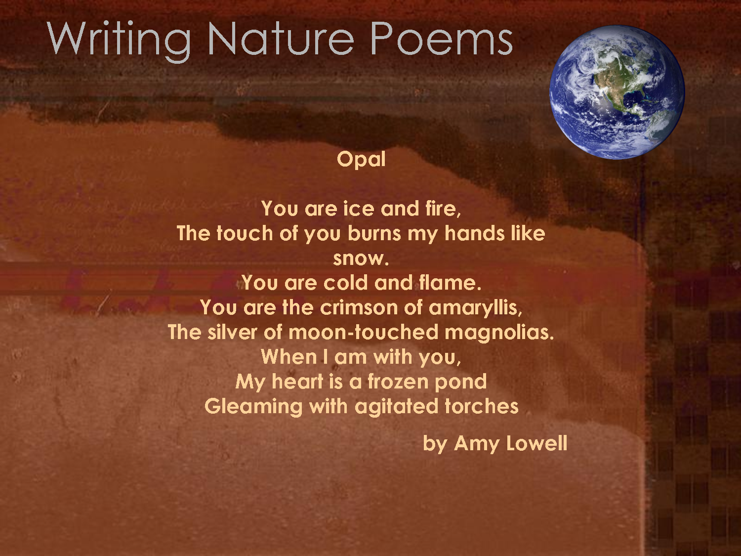 nature in poetry Category: papers title: the theme of nature in robert frost's poetry.