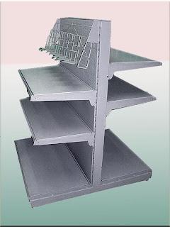 Металлический торговый стеллаж фото