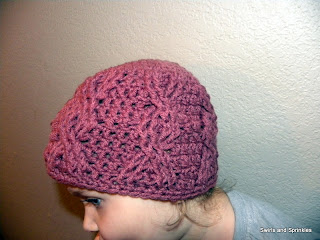 Swirls and Sprinkles: With a Twist Hat by Hooked in Yarn, hat made by Swirls and Sprinkles