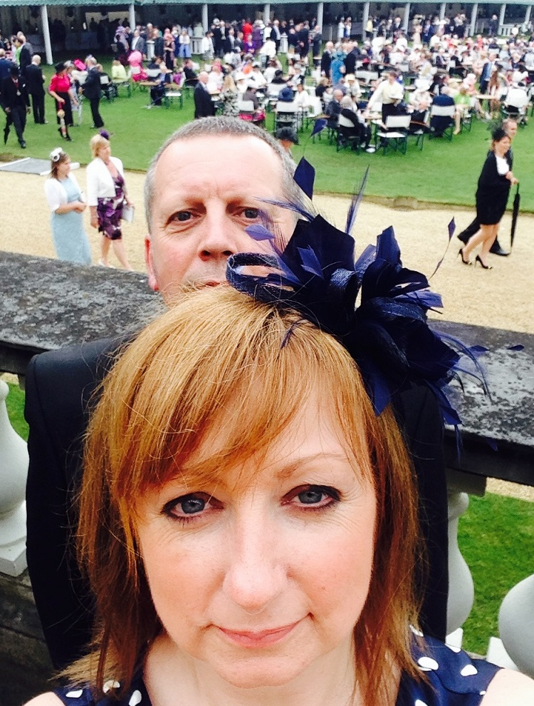 SSgt Stabdley and spouse at the Queen's Garden Party at Buckingham Palace