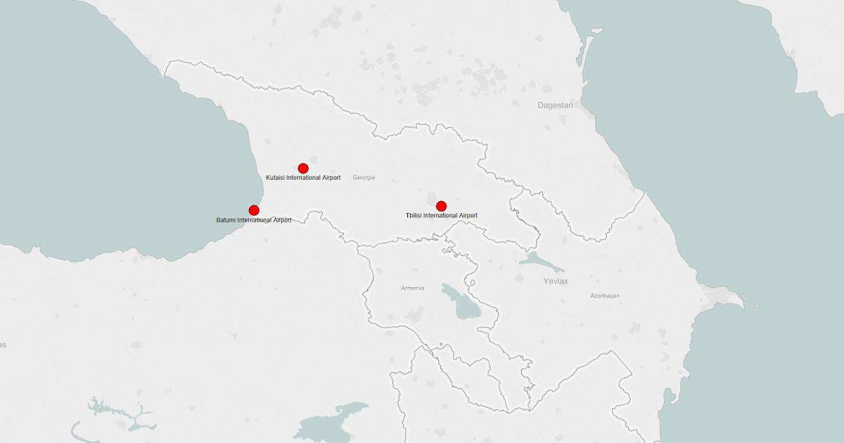 GEORGIA AIRPORTS MAP Plane Flight Tracker - Georgia airports