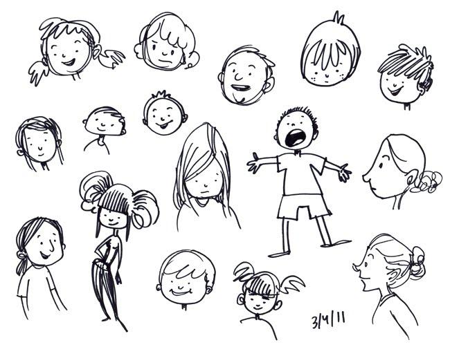 Alisa 39 s sketches doodle face for Doodle art faces