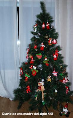 abeto decoracion navideña