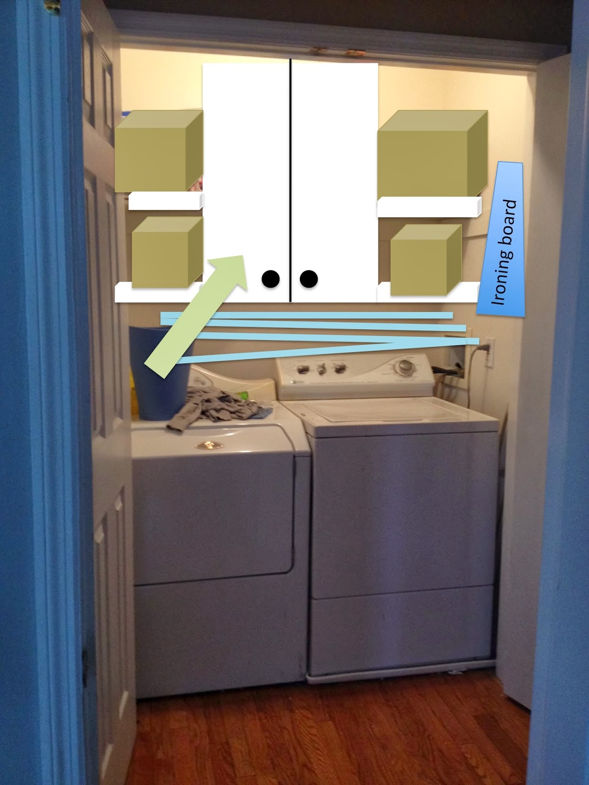 If You Remember My Original Laundry Closet Plan Was To Have The Cabinet  Centered In The Closet Over The Washer And Dryer.
