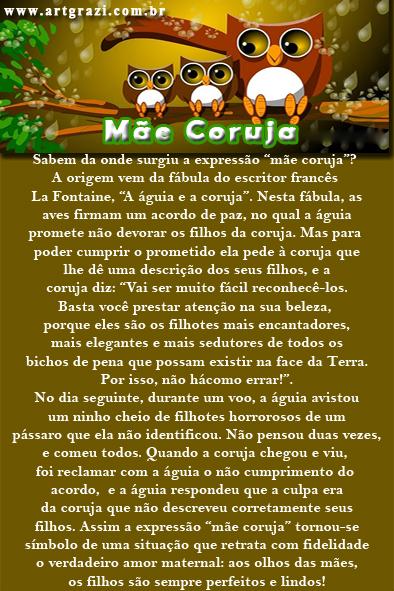 Curiosidades sobre o termo Mãe Coruja no blog ArtGrazi
