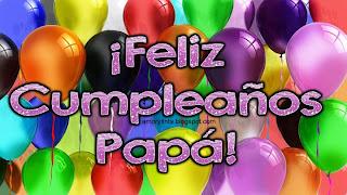 tarjeta de cumpleaños con globos para papá