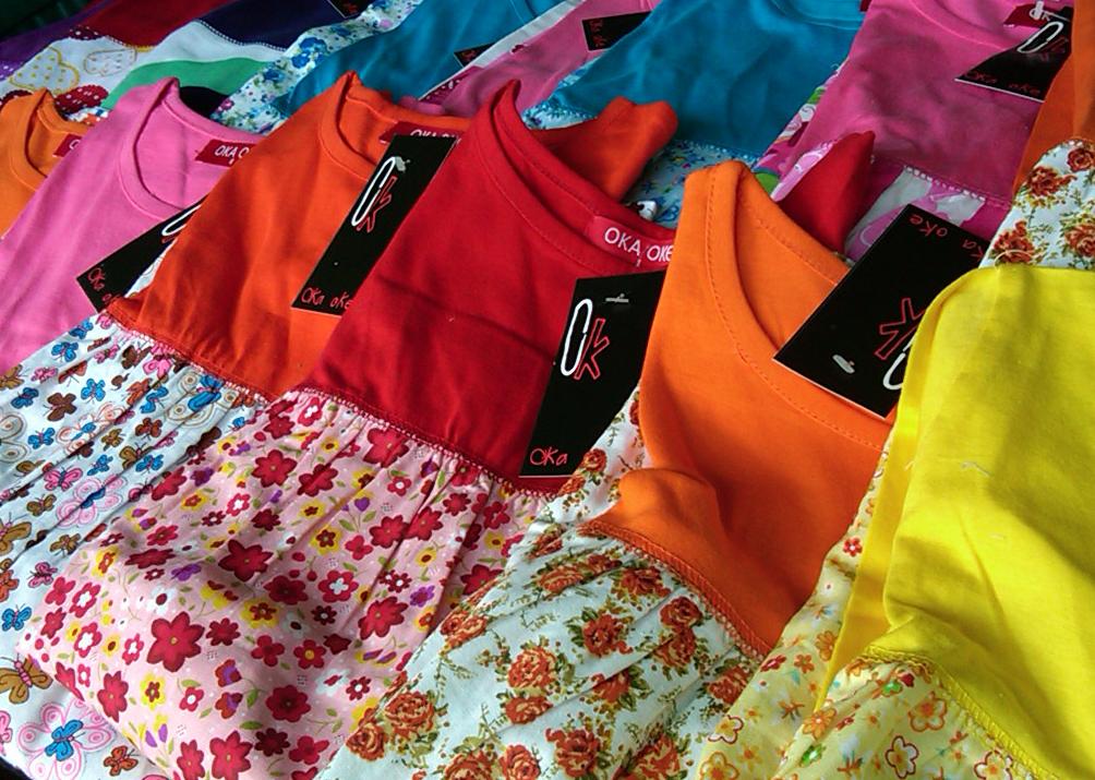 Baju Muslim Model Gamis Anak Perempuan Murah Konveksi Oka