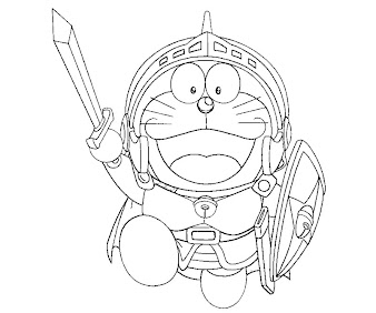 #1 Doraemon Coloring Page