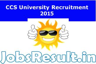 CCS University Recruitment 2015