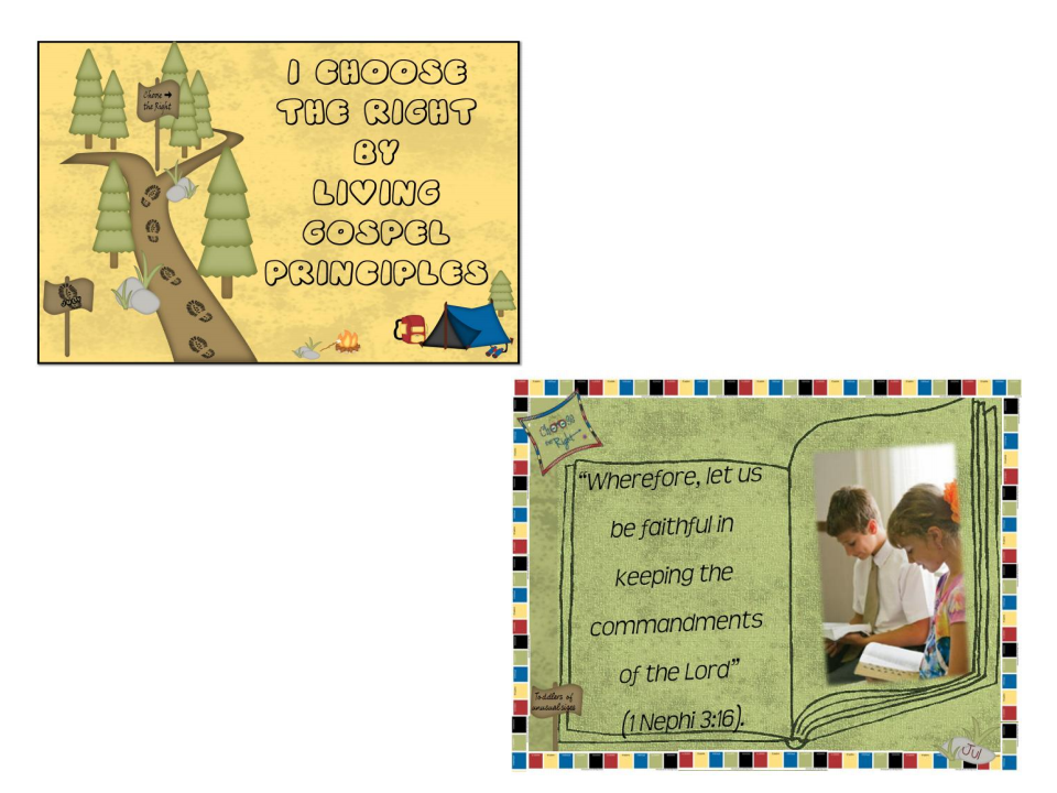 2012 Primary Monthly Scriptures and Theme with LDS Blog Train Designs ...
