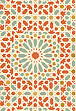 Schumacher Nasrid Palace Mosaic 5005962 Persimmon