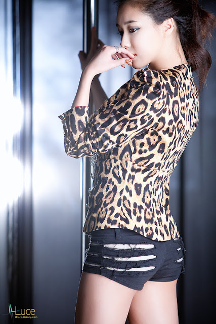 2 Kim Ha Yul - Leopard Girl-very cute asian girl-girlcute4u.blogspot.com