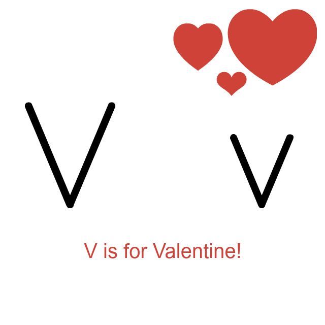 V Is For Valentine Coloring Page - bikinkaos.info