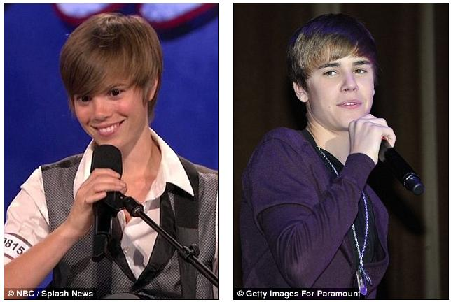Is that Justin Bieber? America's Got Talent judges do double take as pop star's female doppelgänger takes to the stage