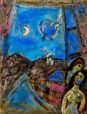 Vesprada en la finestra (Marc Chagall)