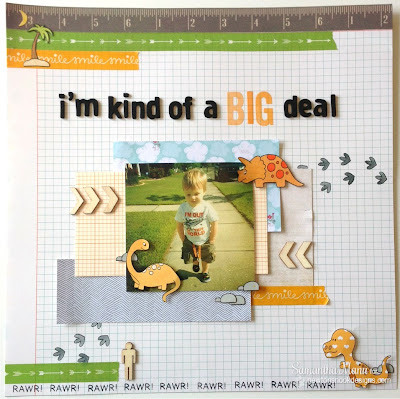 I'm Kind of a Big Deal Dinosaur Scrapbook Page