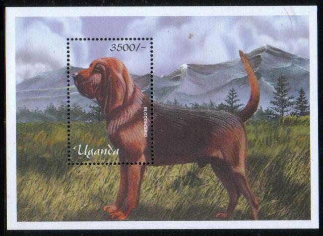 年度不明ウガンダ共和国 ブラッドハウンドの切手シート