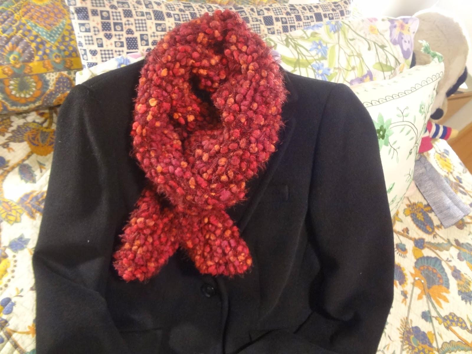 Bordados ganchillo y punto bufandas de lana - Lanas y punto ...